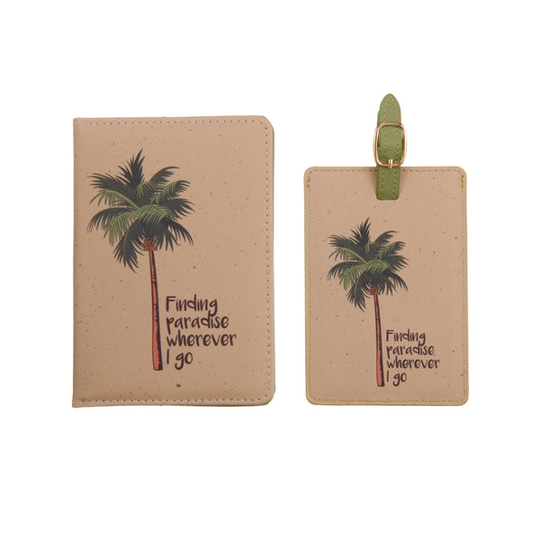 Finding paradise wherever I go Passport cover & luggage label - Giftbox