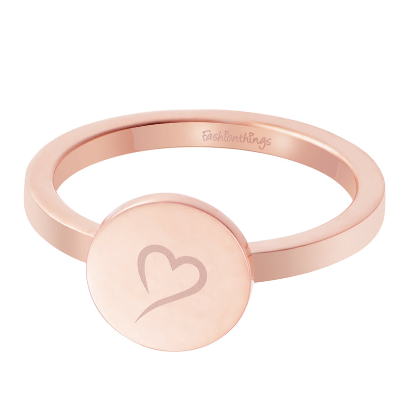 Follow Your Heart Ring Rose Gold