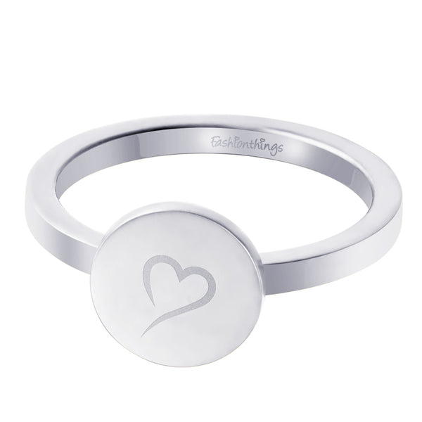Follow Your Heart Ring Silver