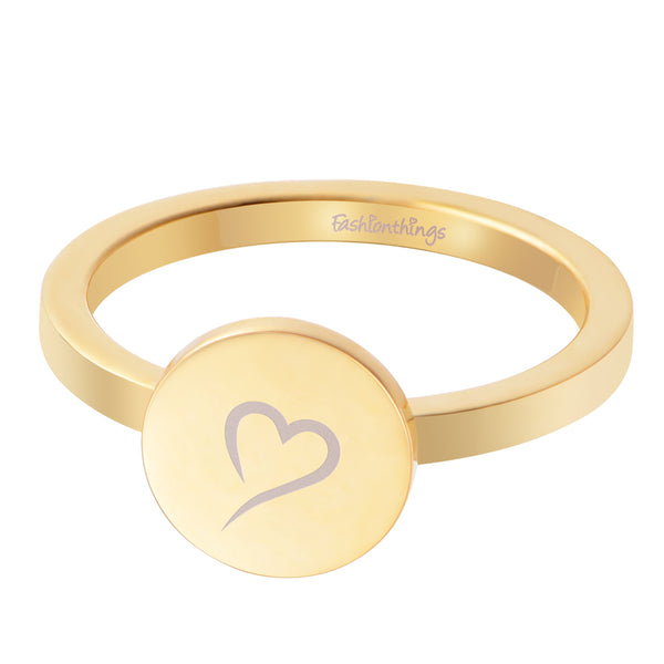 Follow Your Heart Ring Gold