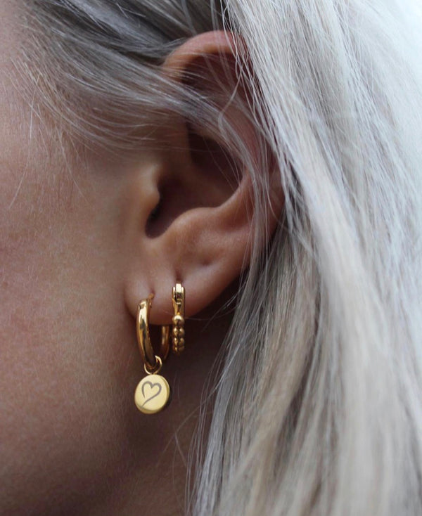 Follow Your Heart Earrings Gold