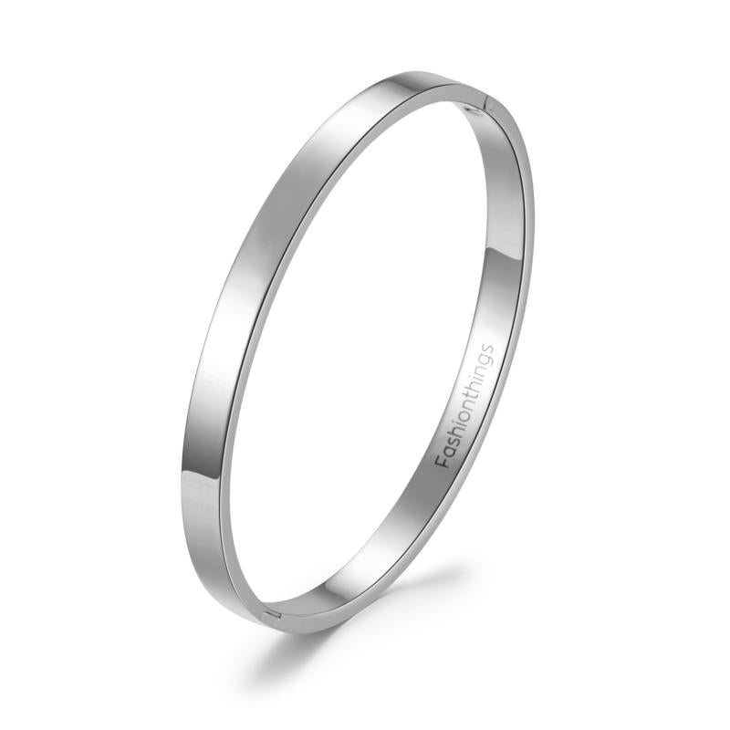 Basic Bangle Silver 6mm
