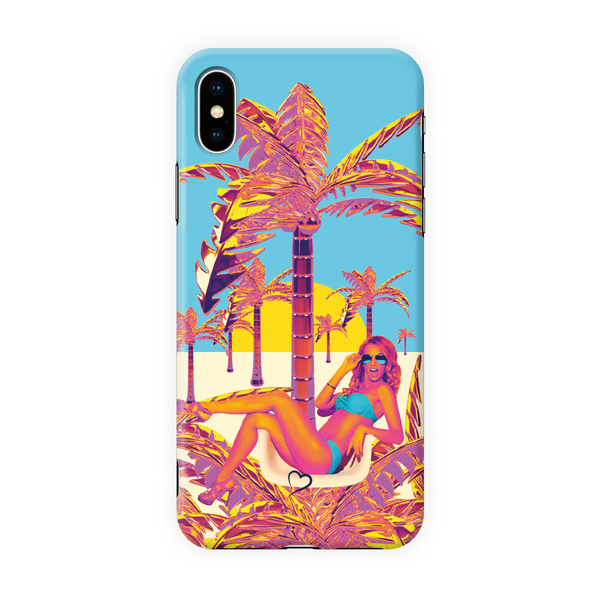 Golden palm tree Eco-friendly iPhone cover