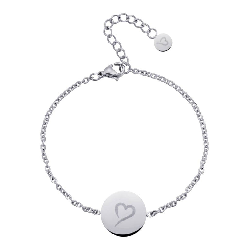 Follow Your Heart Bracelet Silver
