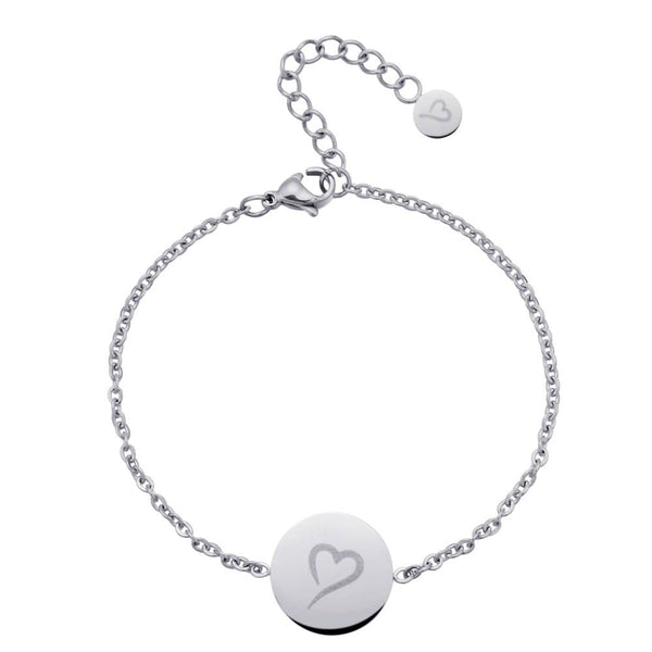 Follow Your Heart Anklet Silver
