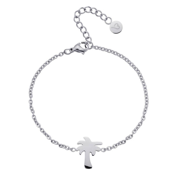 Find Me Under The Palms Anklet Silver