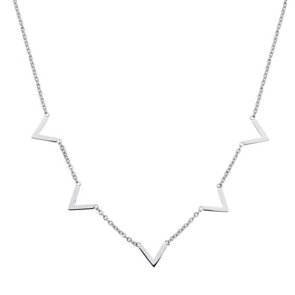 Queen V Necklace Silver