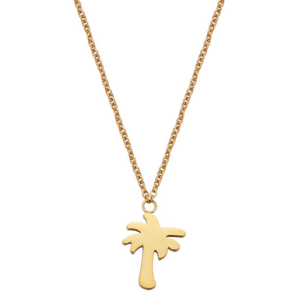 Find Me Under The Palms Necklace Gold