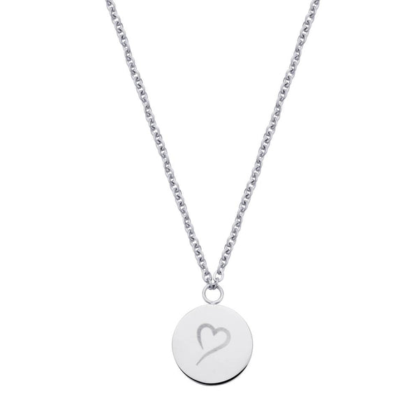 Follow Your Heart Necklace Silver