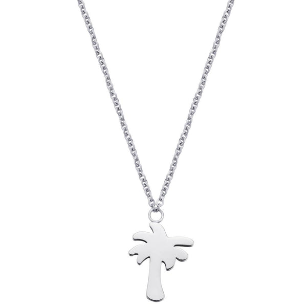 Find Me Under The Palms Necklace Silver