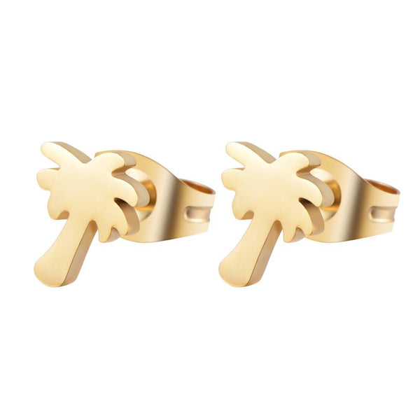 Find Me Under The Palms Earrings Gold