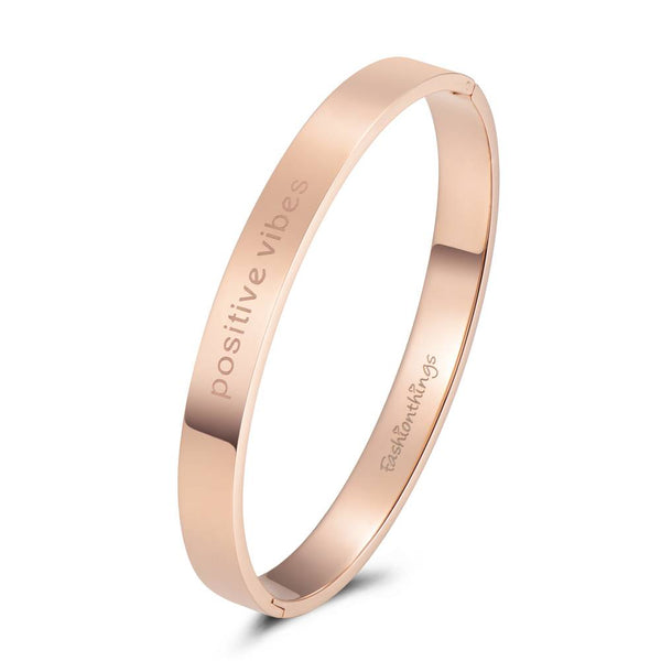 Bangle Positive Vibes Rose Gold 8mm