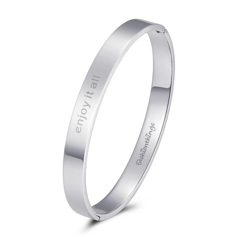 Bangle Enjoy It All Silver 8mm