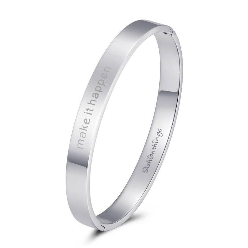 Bangle Make It Happen Silver 8mm