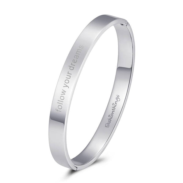 Bangle Follow Your Dreams Silver 8mm
