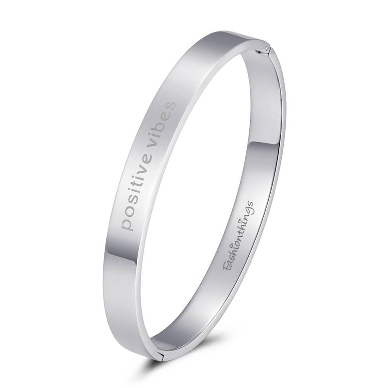 Bangle Positive Vibes Silver 8mm
