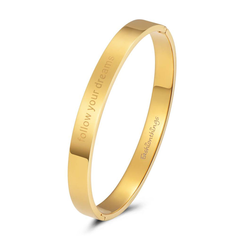 Bangle Follow Your Dreams Gold 8mm
