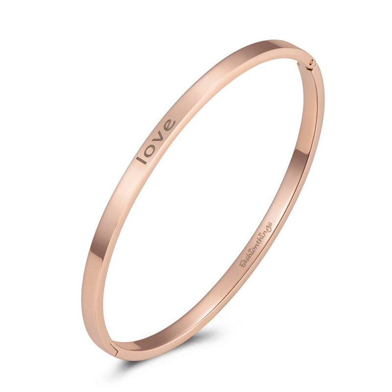 Bangle Love Rose Gold 4mm
