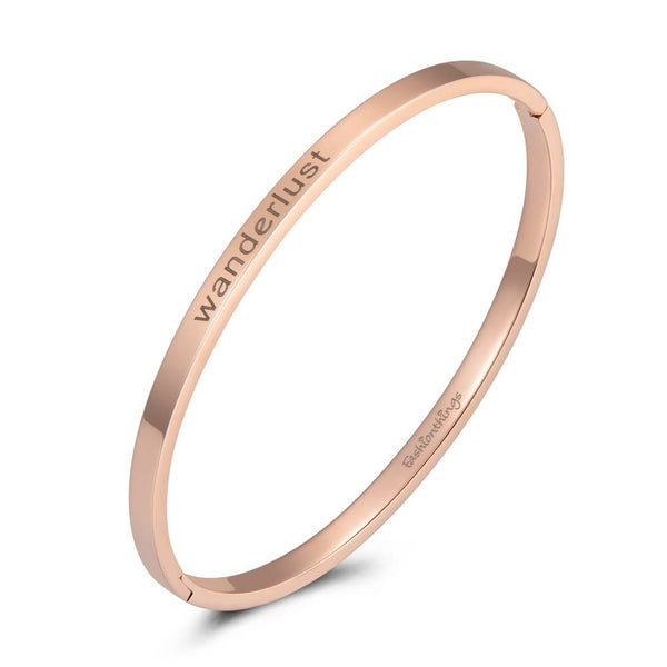 Bangle Wanderlust Rose Gold 4mm
