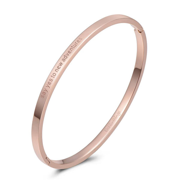 Bangle Say Yes To New Adventures Rose Gold 4mm