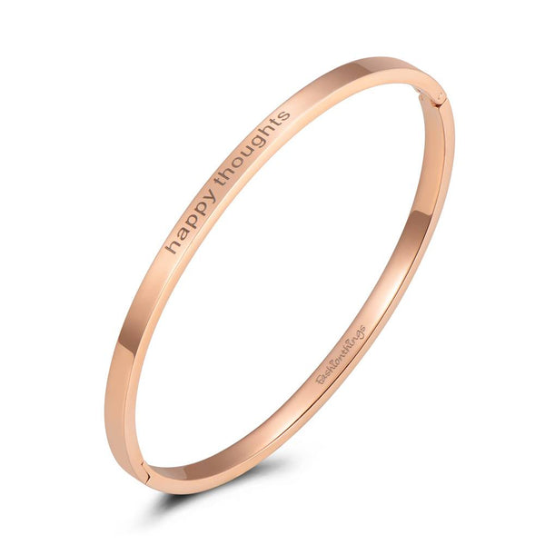 Bangle Happy Thoughts Rose Gold 4mm