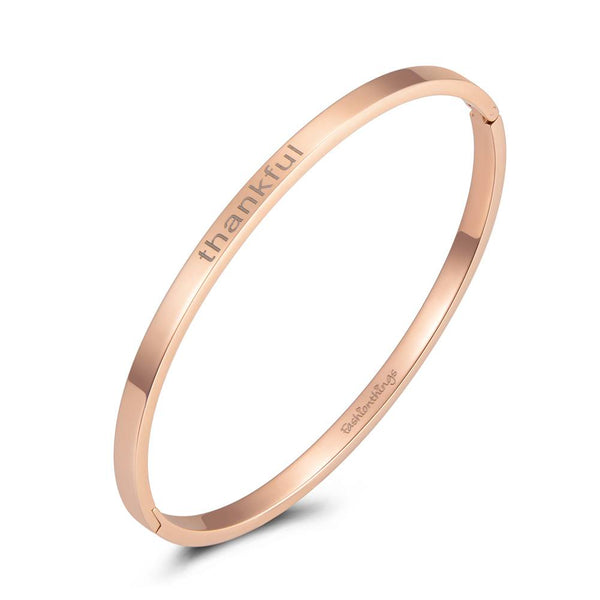 Bangle Thankful Rose Gold 4mm