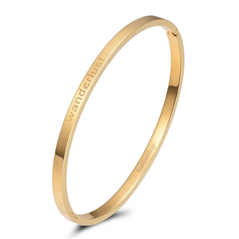 Bangle Wanderlust Gold 4mm