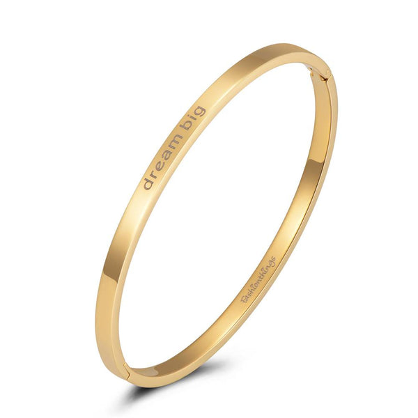 Bangle Dream Big Gold 4mm