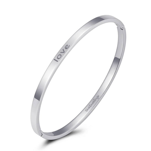Bangle Love Silver 4mm