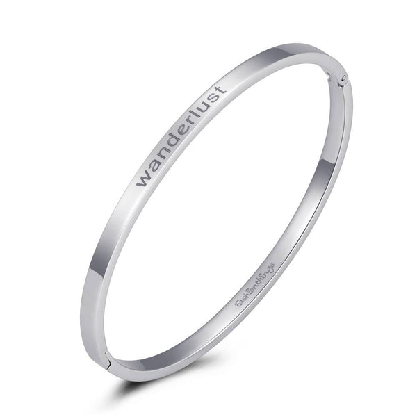 Bangle Wanderlust Silver 4mm