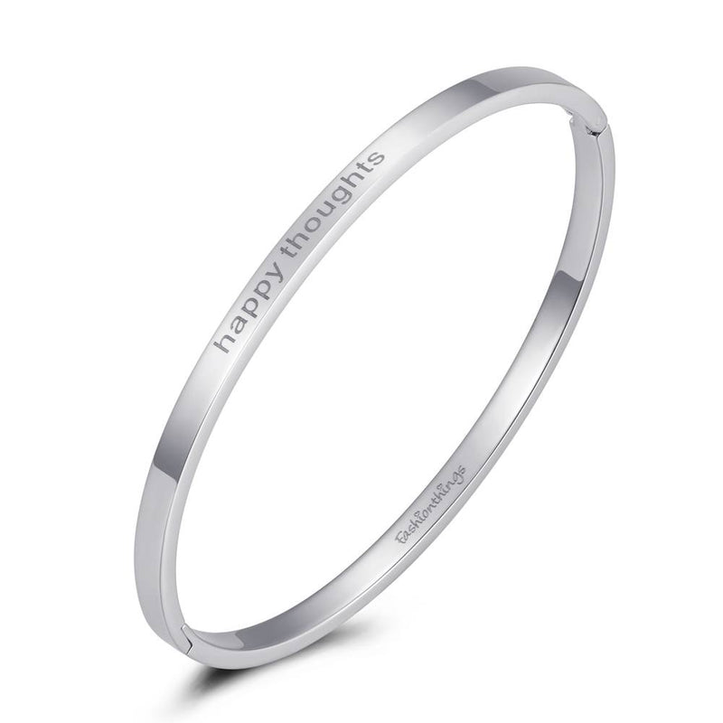 Bangle Happy Thoughts Silver 4mm