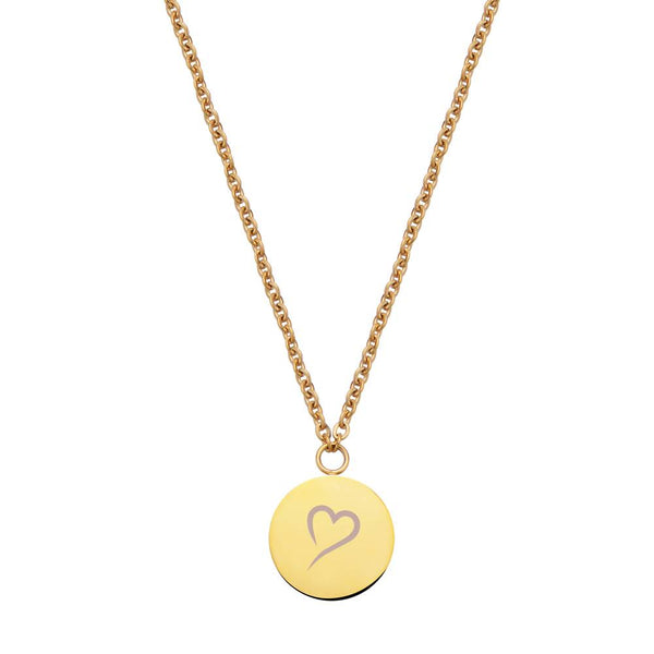 Follow Your Heart Necklace Gold
