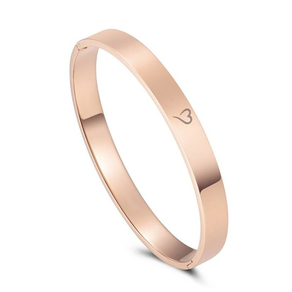Bangle Explore The World Rose Gold 8mm