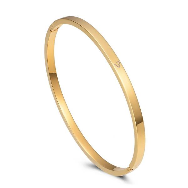 Bangle Say Yes To New Adventures Gold 4mm
