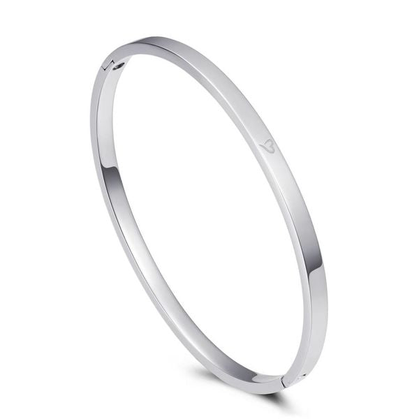 Bangle Say Yes To New Adventures Silver 4mm