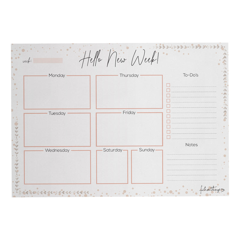 Deskplanner Hello new week A5