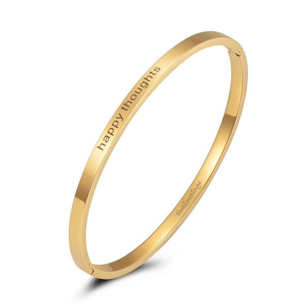 Bangle Happy Thoughts Gold 4mm