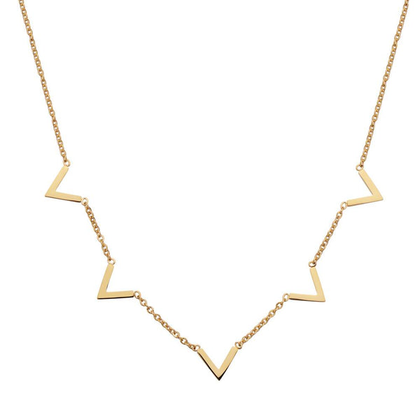 Queen V Necklace Gold
