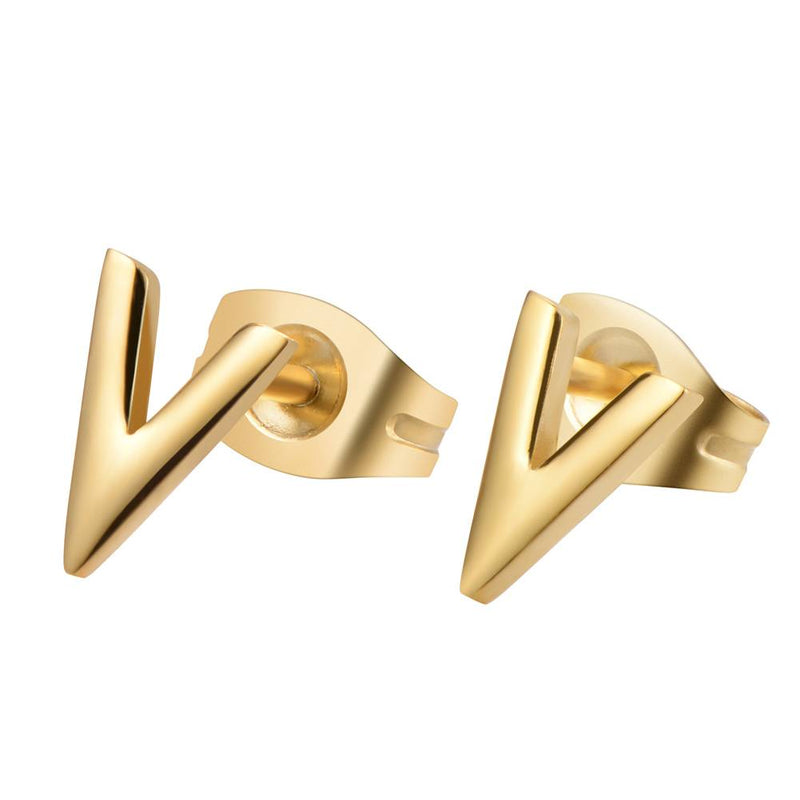 Queen V Earrings Gold