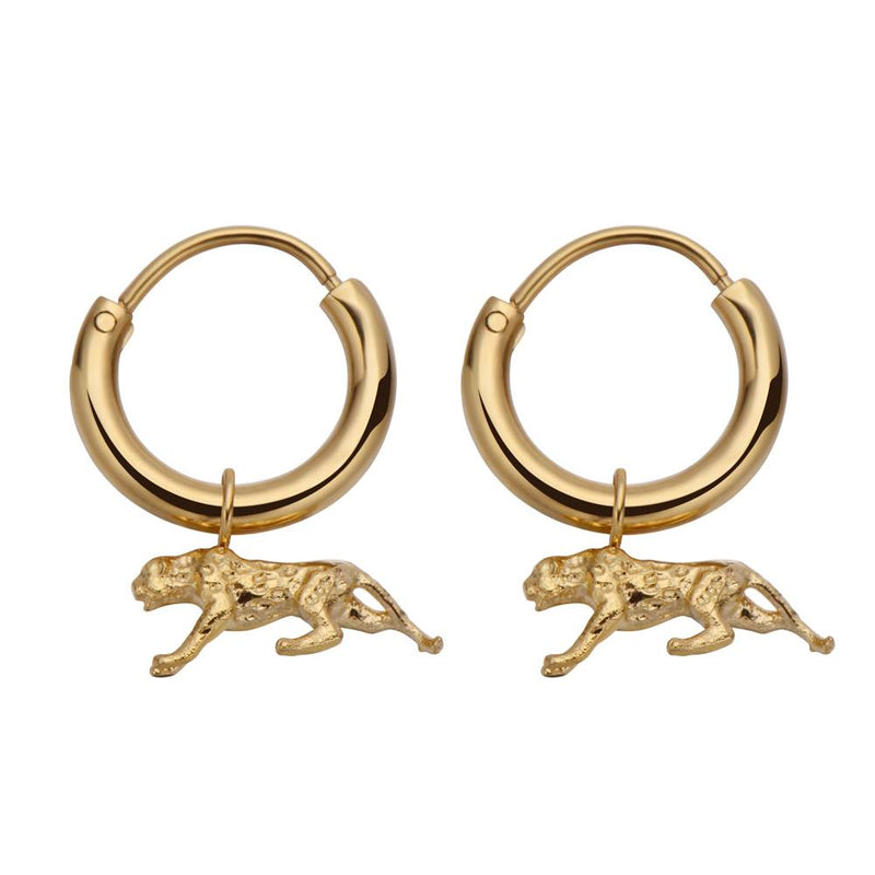 Leopard Earrings Gold