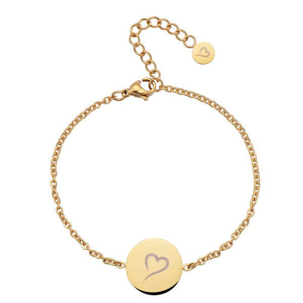 Follow Your Heart Bracelet Gold
