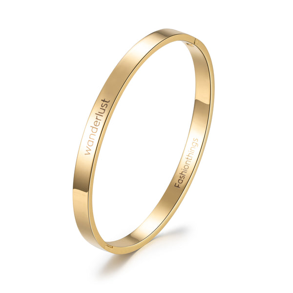Bangle Wanderlust Gold 6mm
