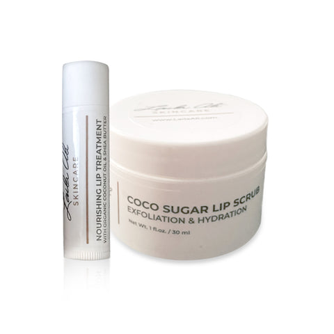 Coco Sugar Lip Scrub & Nourishing Lip Treatment Set