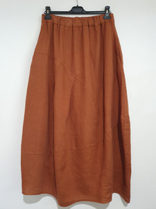Petale ankle-length linen skirt