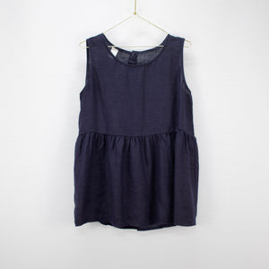 Linen singlet top with buttons down the back