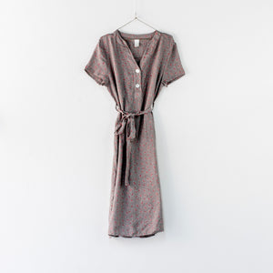 Vintage-style Italian linen floral day dress