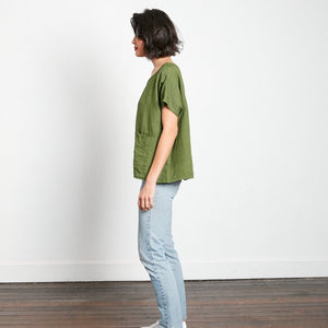 Mignon Double-Pocket Linen top