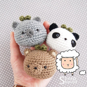 "Animal Plants: ""Bears"" Edition PATTERN (Koala, Brown, Panda)"