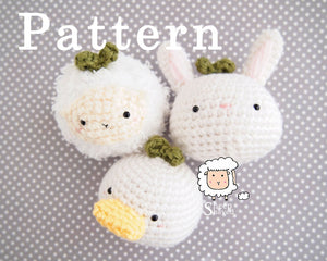 "Animal Plants: ""Spring"" Edition PATTERN (Bunny, Duck, and Sheep)"