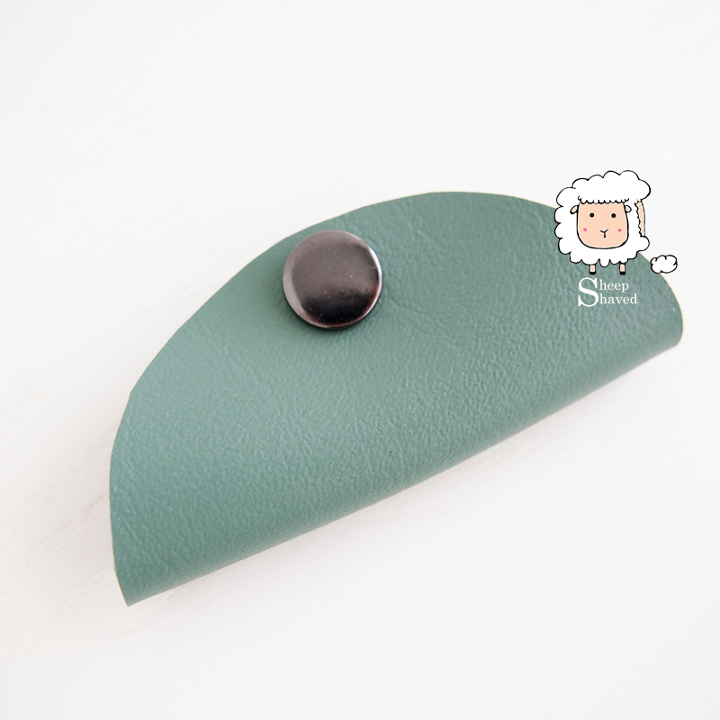 Faux Leather Earbud Case